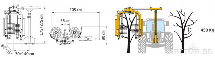 Машини за лозя / овошки Машина за зимна контурна резитба ORIZZONTI модел PFD 3 - Трактор БГ