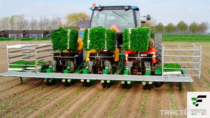 Машини за зеленчуци Разсадопосадъчна машина FEDELE модел MIDI DUPLEX 2