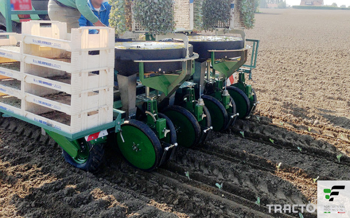 Машини за зеленчуци Разсадопосадъчна машина FEDELE модел IPER DUPLEX 2