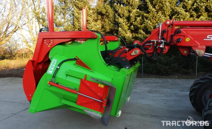 Машини за ферми Вертикална фуражораздаваща миксер кофа за мини челен товарач и трактор 1