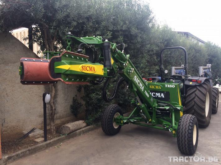 Машини за лозя / овошки Прикачен комбайн за бране SICMA модел TR80 1 - Трактор БГ