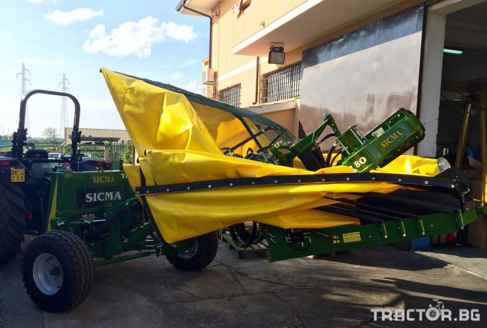 Машини за лозя / овошки Прикачен комбайн за бране SICMA модел TR80 2 - Трактор БГ